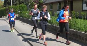 Guderupløbet 2015 4 løbere i Guderup.